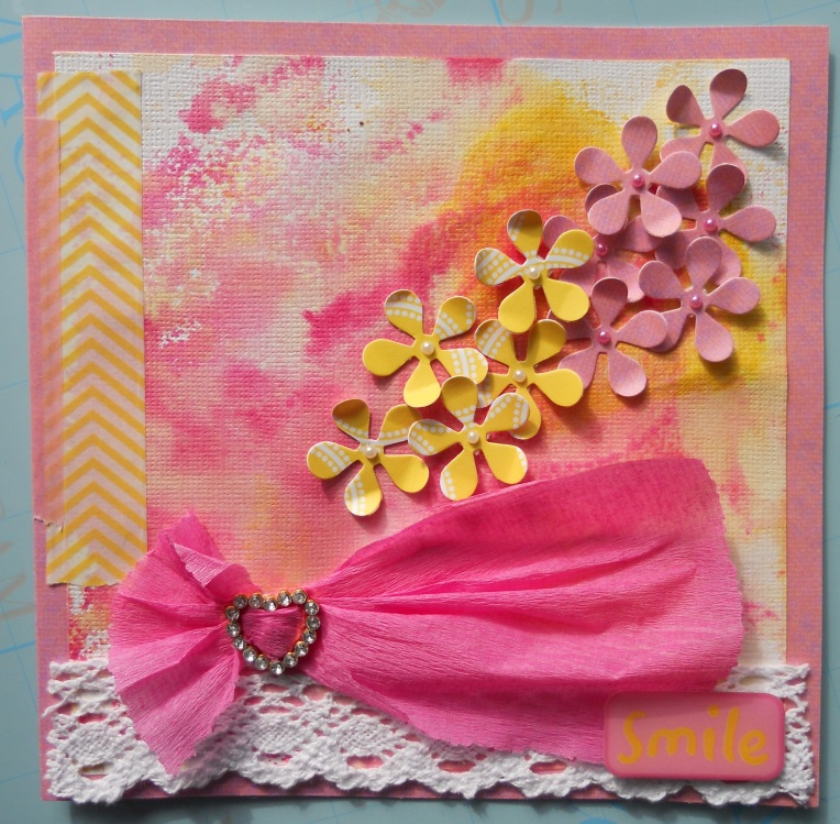 Yellow Pink Card