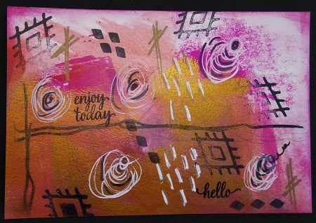 Abstract Mail Art - Postcard