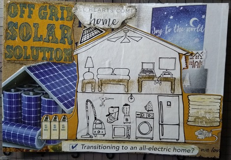Crafty Recyclers: House Postcard