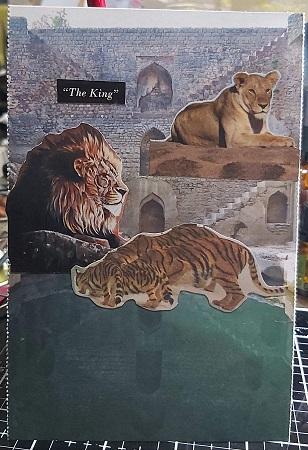Crafty Recyclers:Tigers or Lions Postcard-April