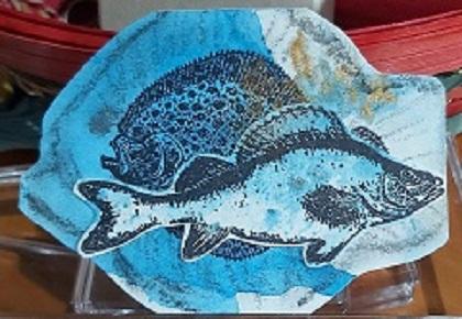Amazing Mail ART: Fish Shaped ATC- May 2020