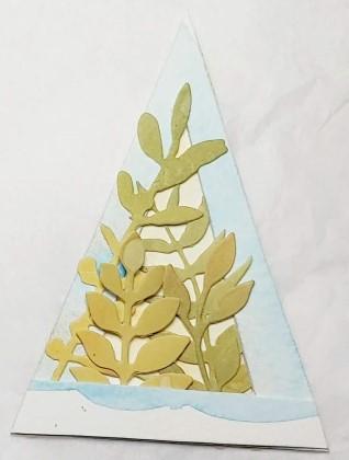 Amazing Mail ART: Triangle Shape ATC - February 2021