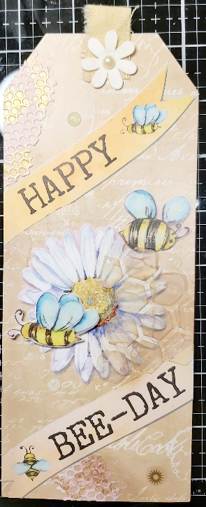 Mini Art Exchange:  TAGS 2 for 2: BEES # May 2021