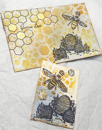 Amazing Mail ART: Art with Hexagons Honeycomb - February 2021