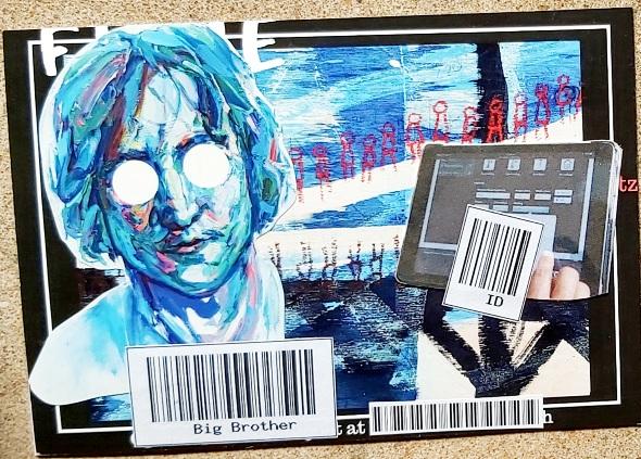 Amazing Mail Art:  Barcode Mail Art May 2021